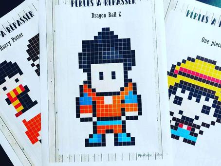 Pixels art : Mangas et Jeux vidéos