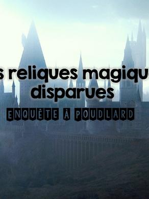 Escape game en ligne : Les reliques magiques disparues (thème Harry potter) - CM2