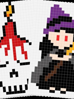 Pixels art : Halloween