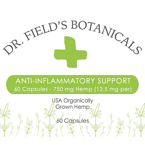 Anti-Inflammatory Support Hemp Capsules - 60 ct - 750 mg (12.5 mg per capsule)