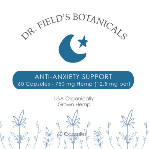 Anti-Anxiety Support Hemp Capsules - 60 ct - 750 mg (12.5 mg per capsule)