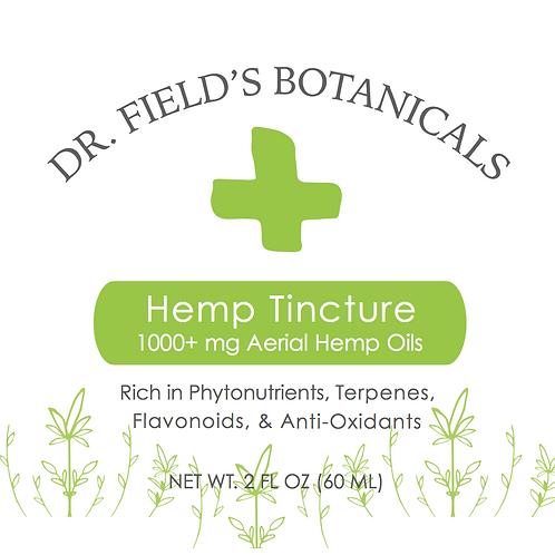 Dr. Field's Botanicals Tincture - 1000+ mg Hemp Oil - 2 oz Bottle
