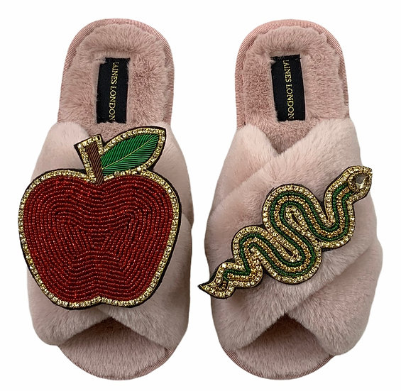Classic Laines Slippers With Double Deluxe Temptation Brooches