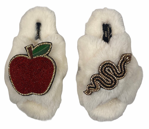 Laines Cloud Cream  Slippers / Double Deluxe Artisan Snake & Apple
