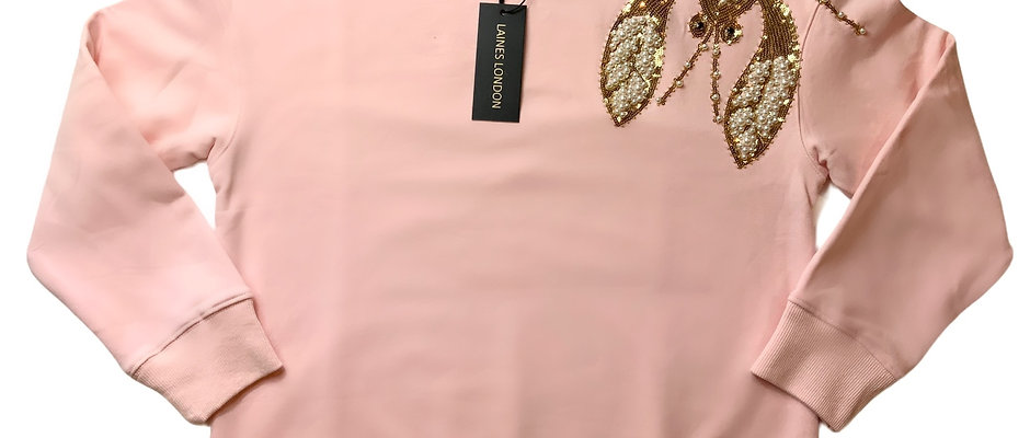 Soft Pink Pearl & Gold Lobster Lounge Set