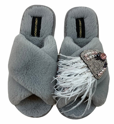 Classic Laines Fluffy Slippers with Artisan Jellyfish