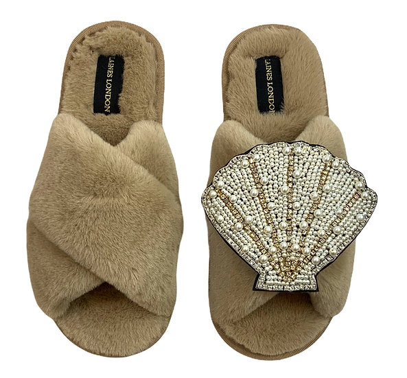 Classic Laines Slippers with Deluxe Artisan Seashell