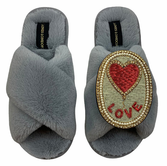 Classic Laines Slippers with Deluxe Love Balloon Brooch