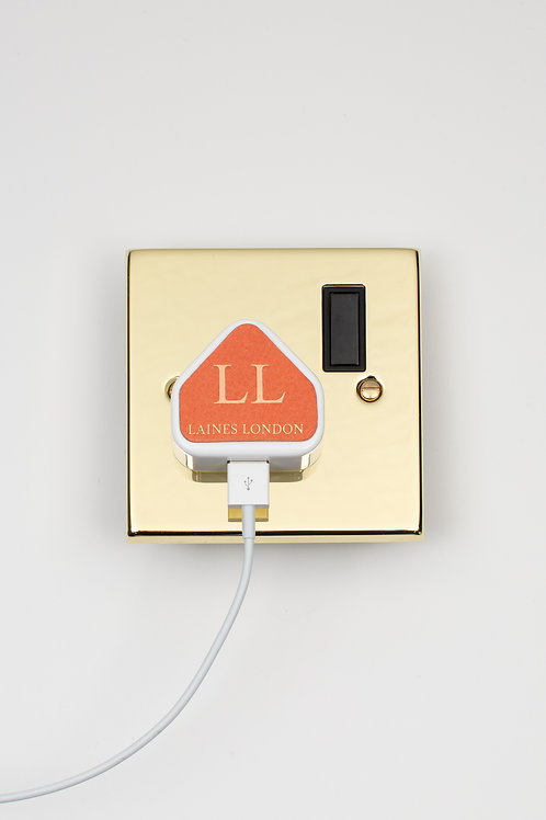 Personalised Leather iPhone Charger Sticker - Orange