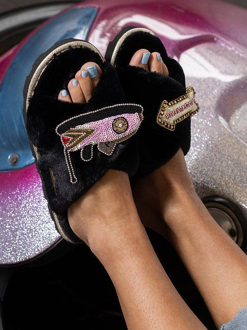 Ultralight Chic Slippers / Sliders with Premium Double Dodgem & Fairground Sign