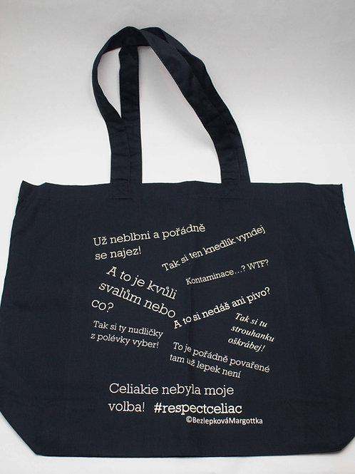 Bavlněná taška modro bílá unisex
