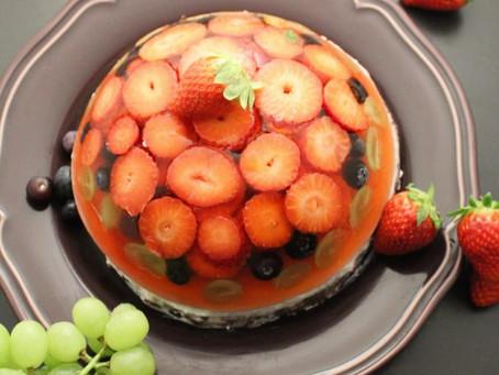 Lehký ovocný želé dortík