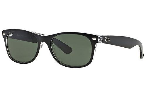Ray-Ban New Wayfarer Classic Polarized Sunglasses (Black/Clear)