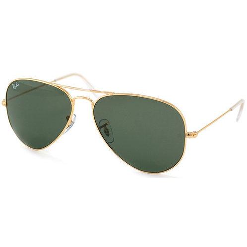 Ray-Ban Aviator Polarized Sunglasses (Gold)