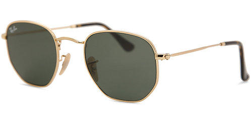Ray-Ban 3548N Hexagonal Sunglasses (Gold)