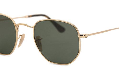 Ray-Ban 3548N Hexagonal Sunglasses (Gold)