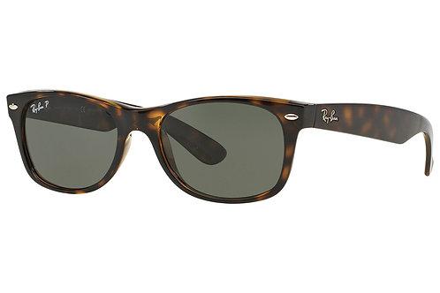 Ray-Ban New Wayfarer Classic Polarized Sunglasses (Tortoise)