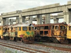 Abandoned Train Cemetery in Bangkok Thailand