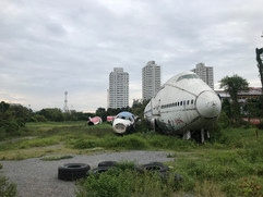 Abandoned Airplane Graveyard in Bangkok Thailand