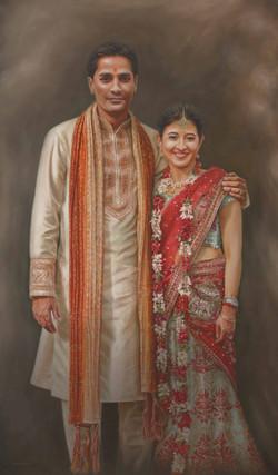 Portrait Indian wedding couple