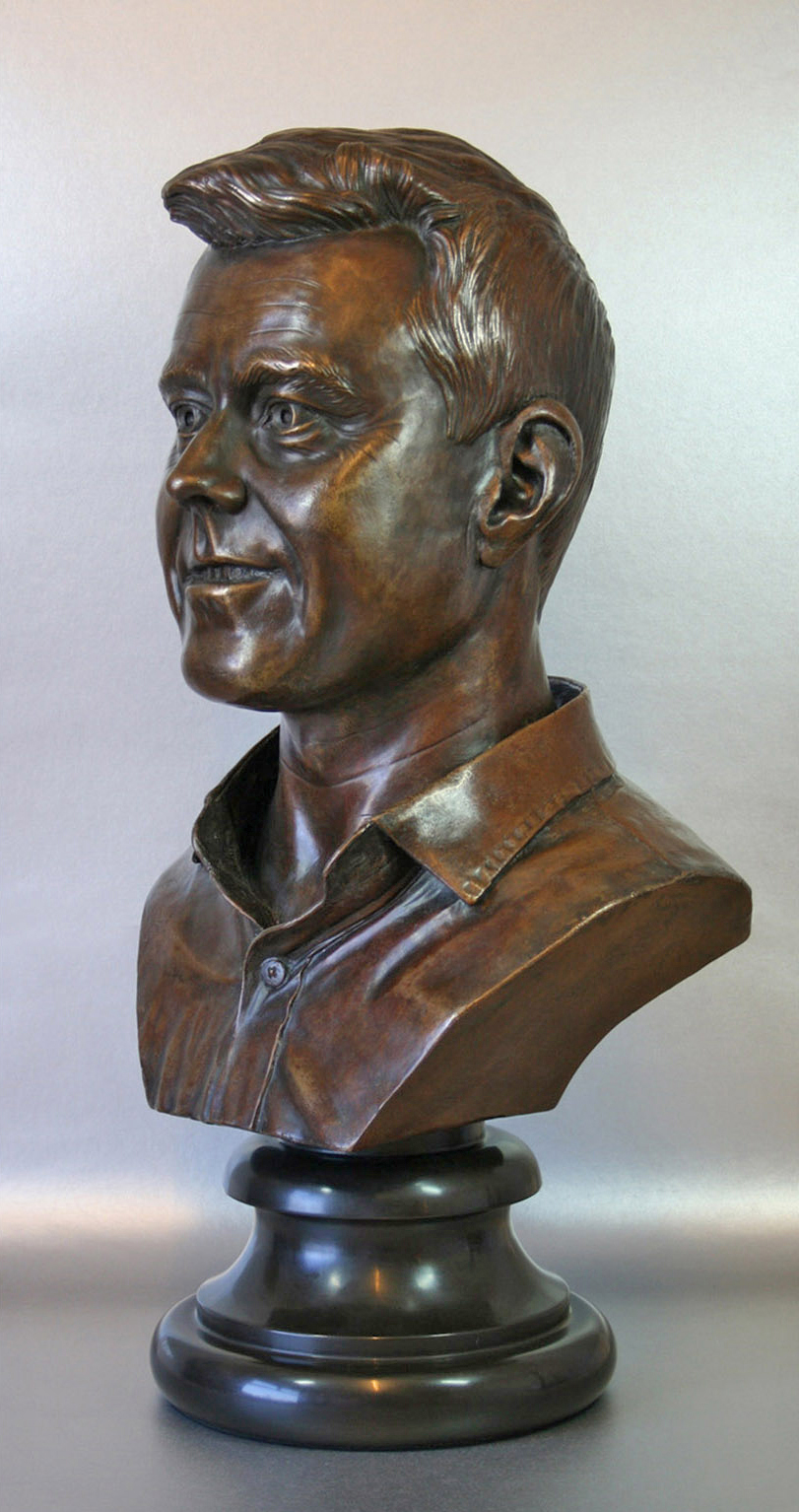 Head sculpture bronze