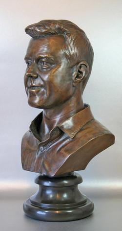 Head sculpture bronze
