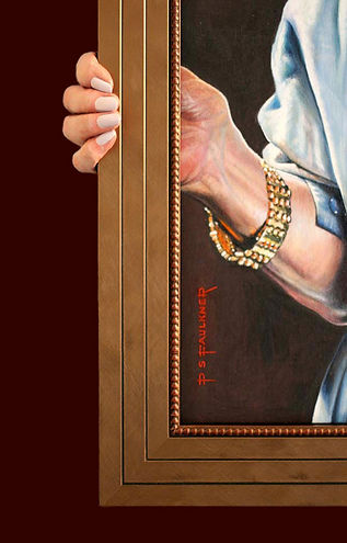 Joan Agajanian Quinn Portrait Commission hands close up by Peter S. Faulkner