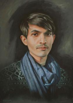 Portrait Painting Sight-Size of Shez