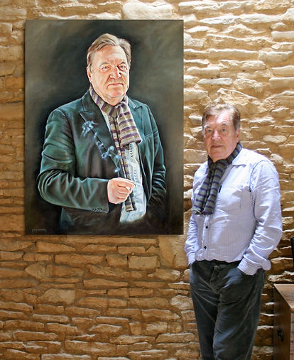 George Davies & Portrait Commission painting by Artist Peter S Faulkner