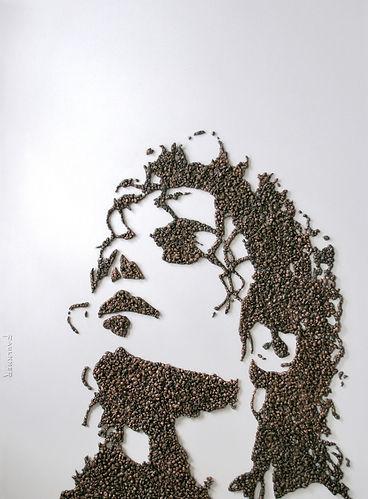 Michael Jackson Sculpture by artist Peter S. Faulkner made using Metalized Popcorn