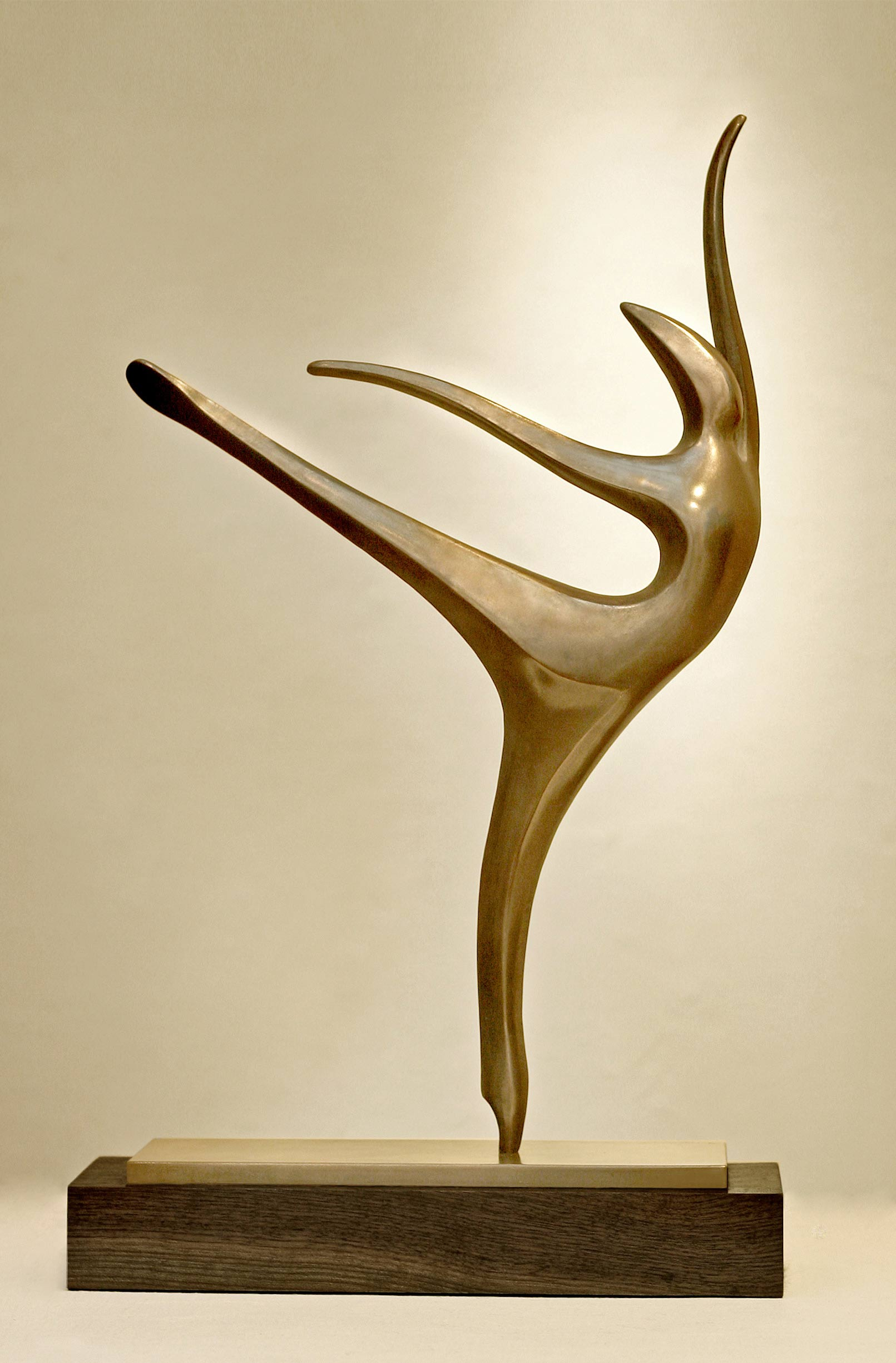 Arabesque ballet sculpture bronze