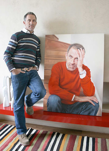 Ben De Lisi (Fashion Designer) Portrait Commission By London Portrait Artist Peter S. Faulkner