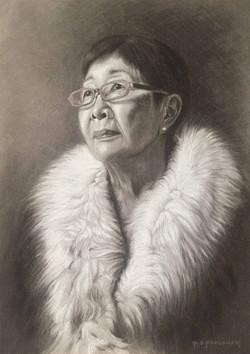 Charcoal Portrait of Shurlee