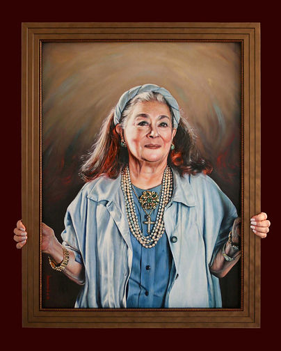 Joan Agajanian Quinn Portrait painting Commission by Peter S. Faulkner