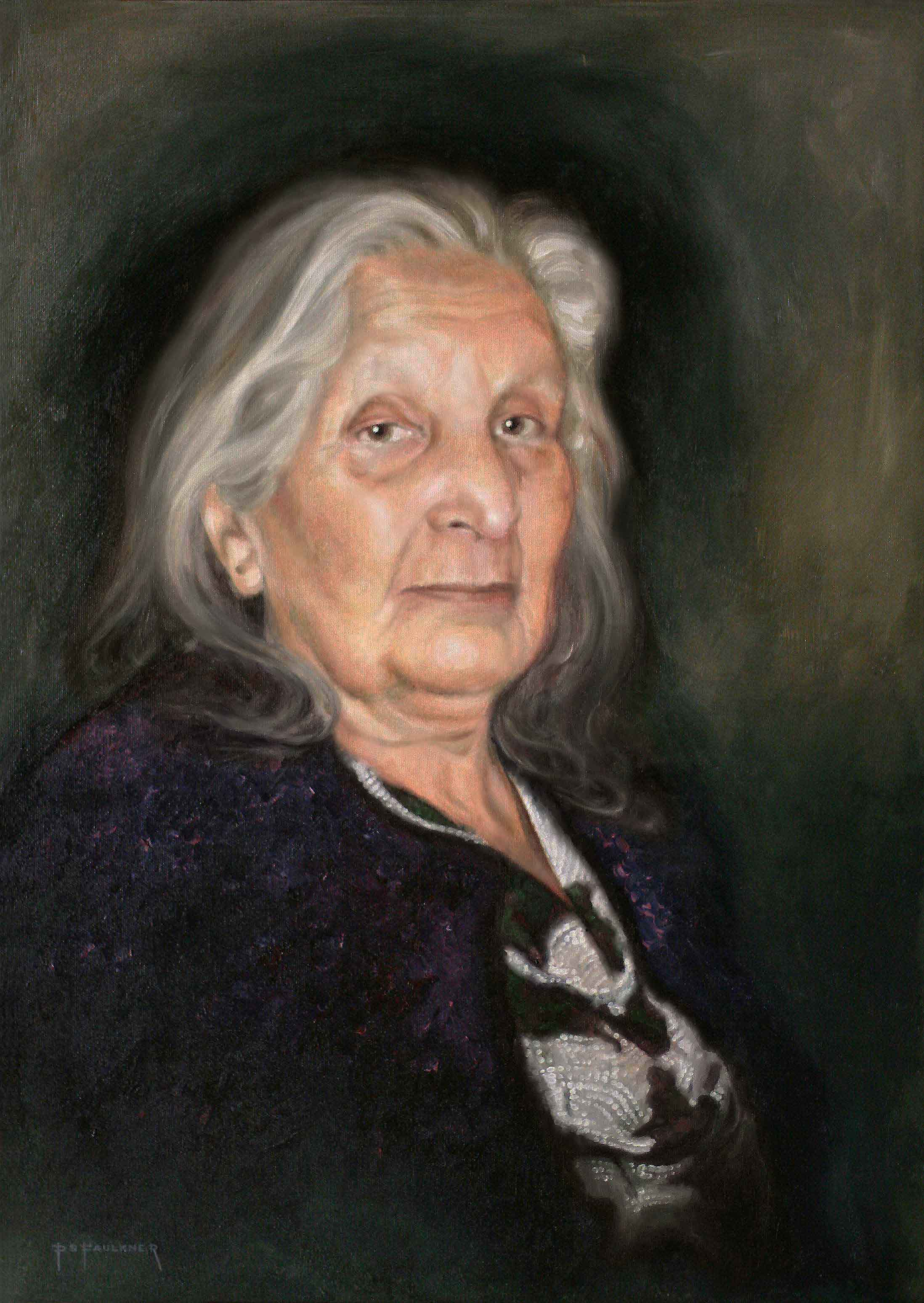 Portrait Painting of Elderly Lady