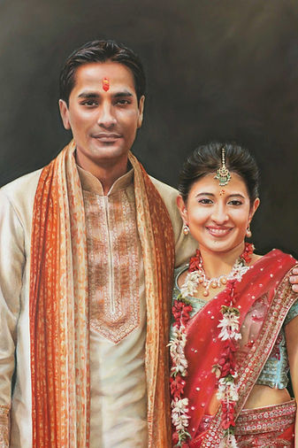 Portrait of Indian couple at wedding