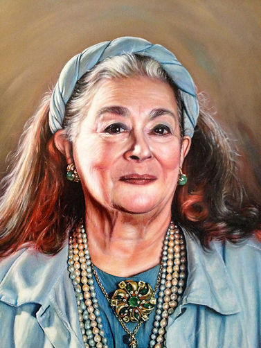 Joan Agajanian Quinn Portrait Commission close up by Peter S. Faulkner