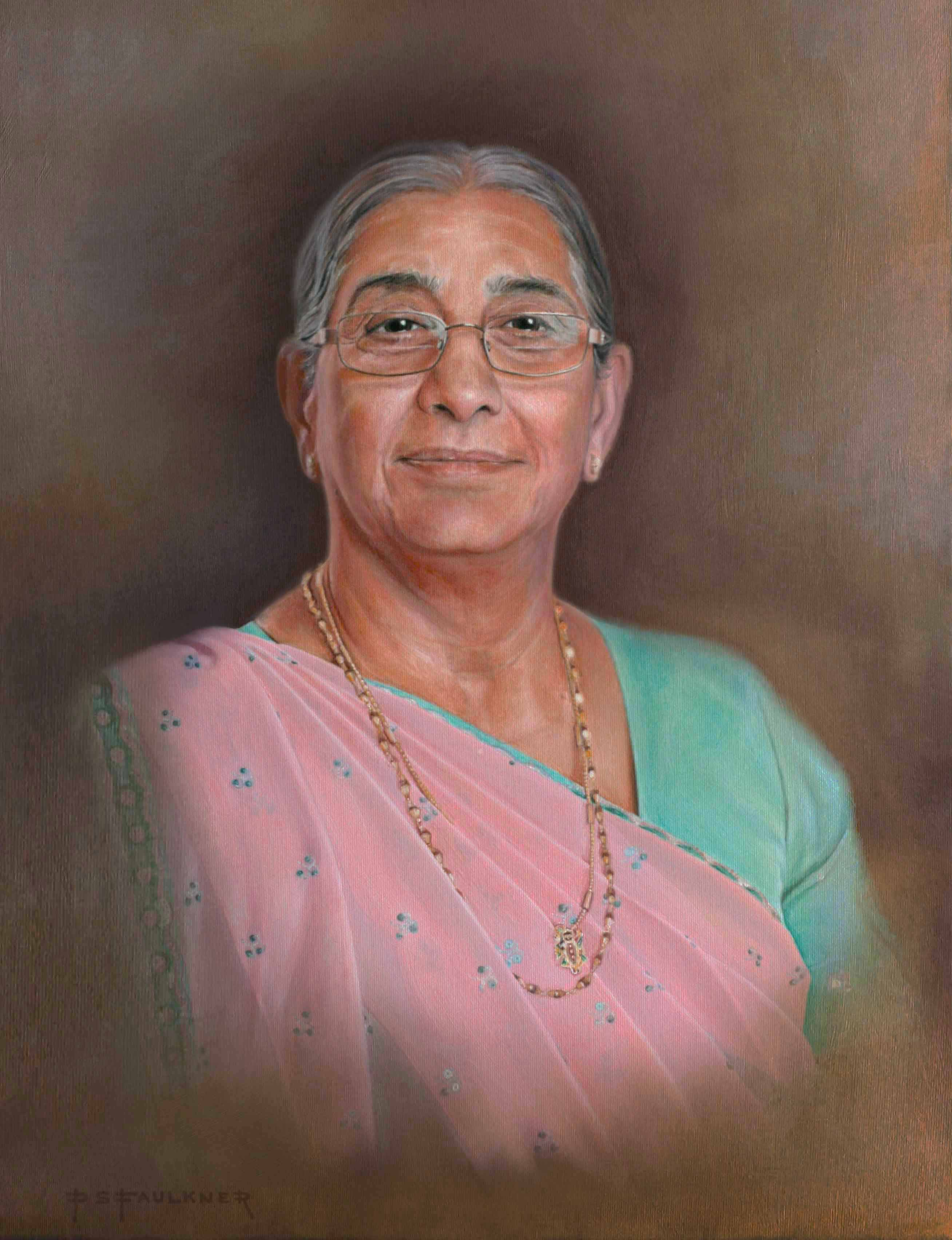 Portrait painting of Indian lady