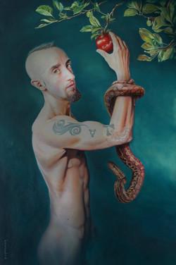 Portrait painting Adam & Eve