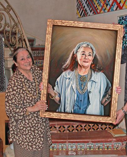 Joan Agajanian Quinn & her Portrait Commission by Peter S. Faulkner