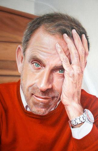 Ben De Lisi (Fashion Designer) Portrait Commission By Peter S. Faulkner Oil On Canvas
