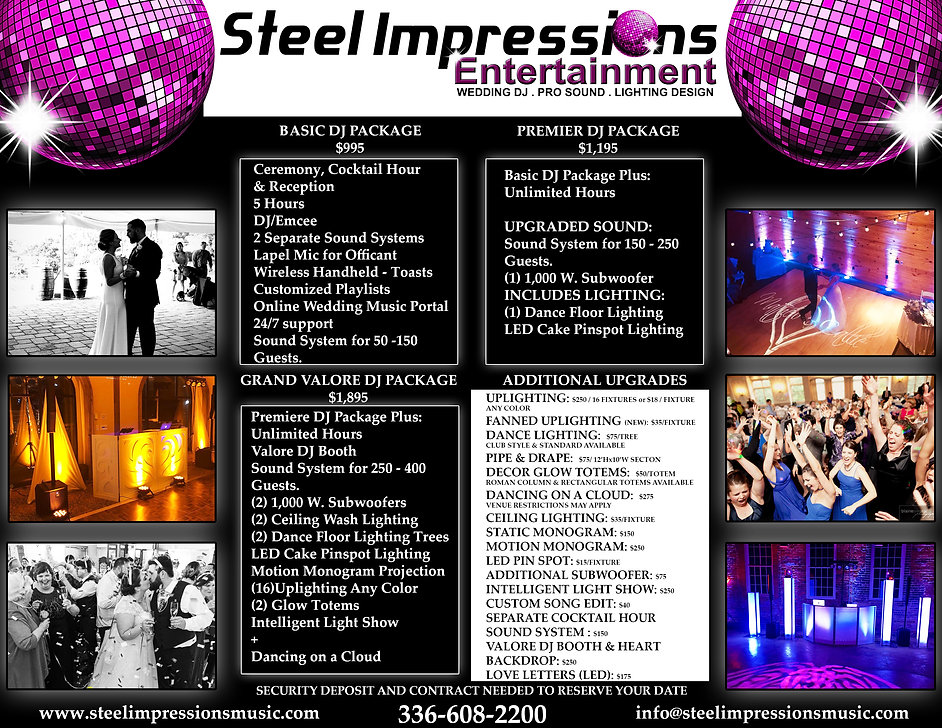 STEEL IMPRESSIONS PRICING SHEET 2019 NEW