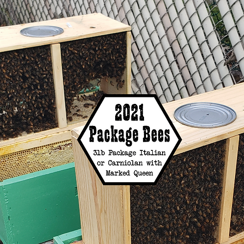 3lb Package Bees (Local Pickup Only)