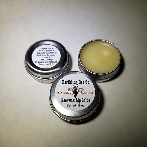 Beeswax Lip Salve Peppermint