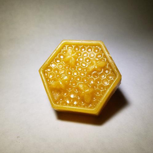 100% Beeswax 1 oz melt hexagon