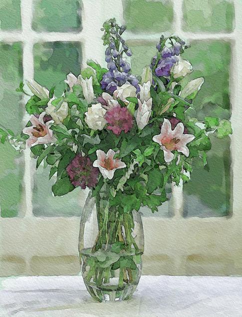 Lilies and foliage