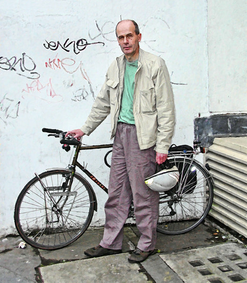 Pete with his bicycle