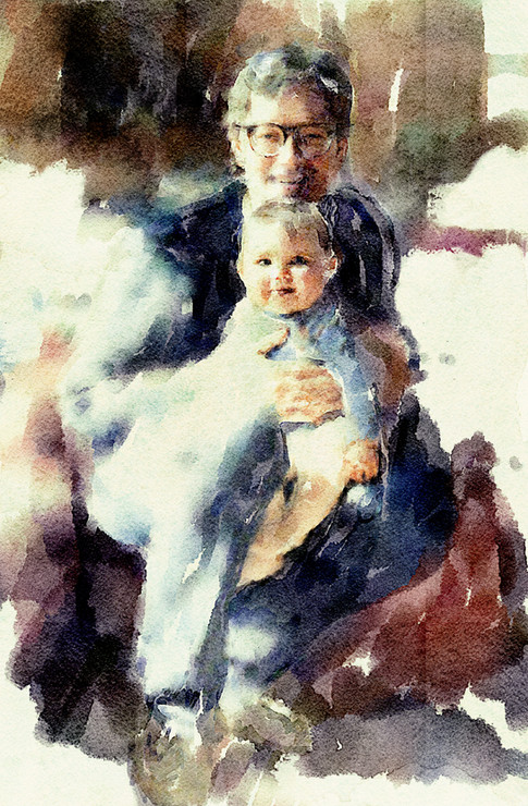 The artist and his daughter