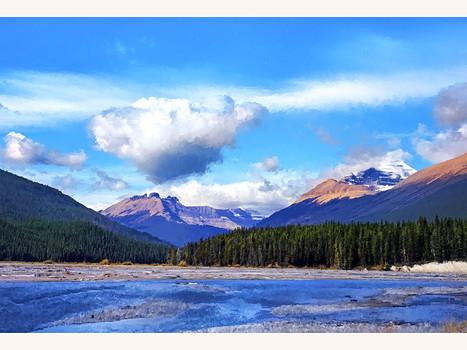 The Canadian Rockies between Banff and Jasper. 2019