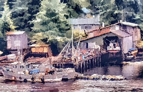 Boatyard, Ketchikan, Canada. 2020